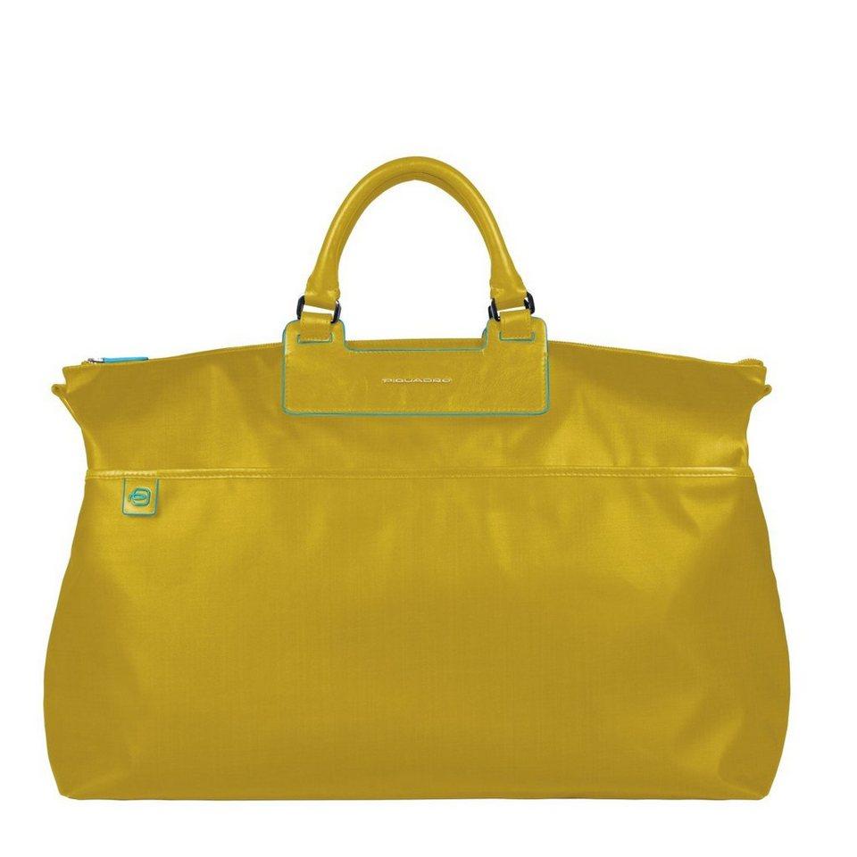 Piquadro Aki Weekender Reisetasche 52 cm in gelb