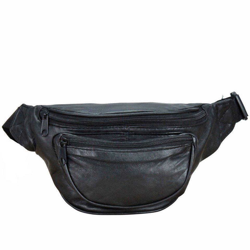 travelite Accessoires Gürteltasche Leder 20 cm in schwarz