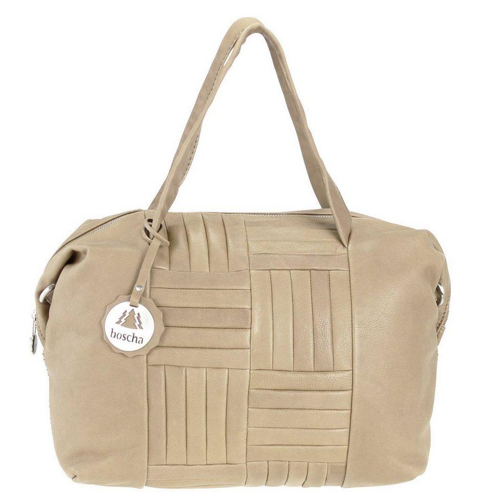 Boscha Don't be square Handtasche Lotta Leder 32,5 cm in taupe