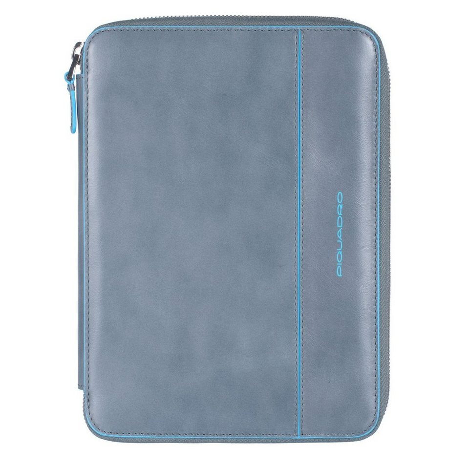 Piquadro Piquadro Blue Square iPad mini Hülle Leder 22,5 cm in grey