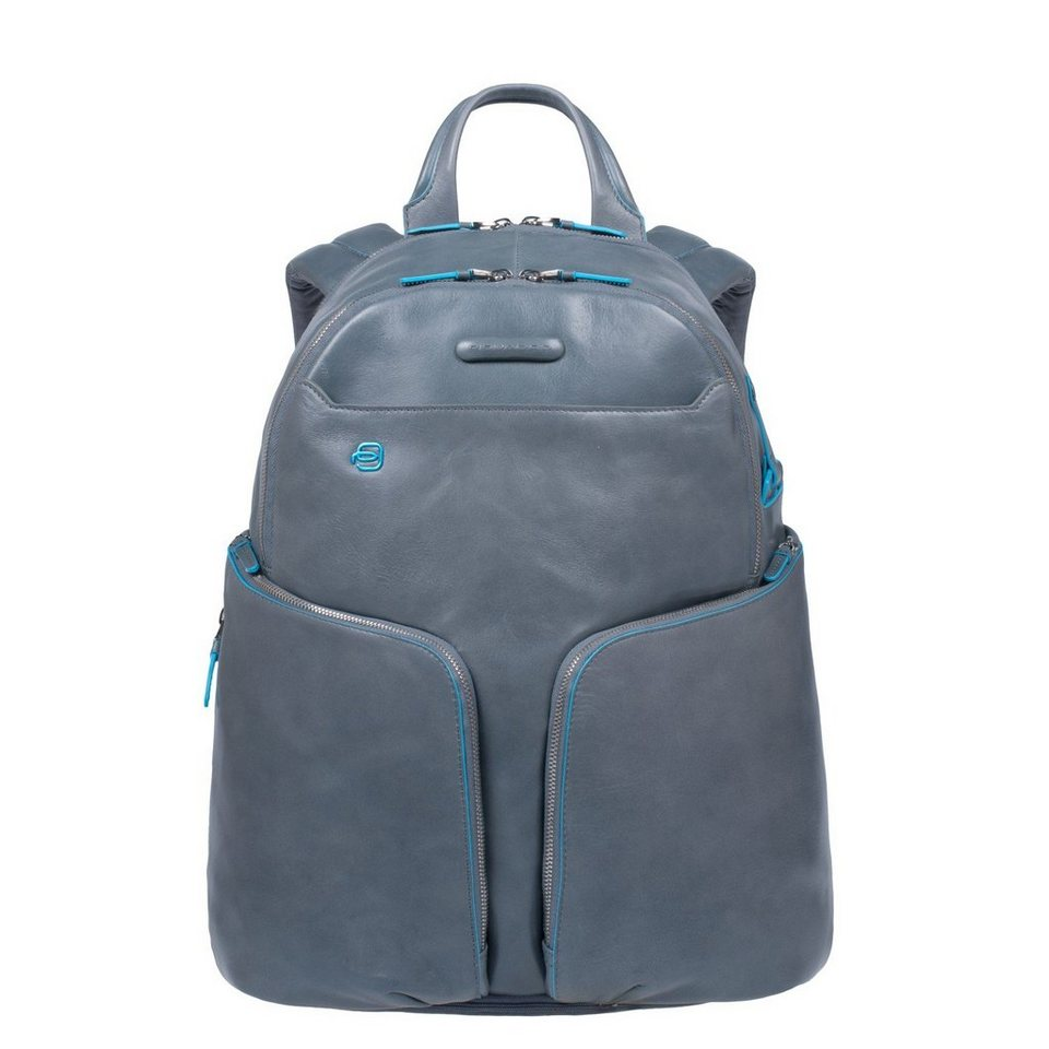 Piquadro Piquadro Blue Square Rucksack Leder 39 cm Laptopfach in grey