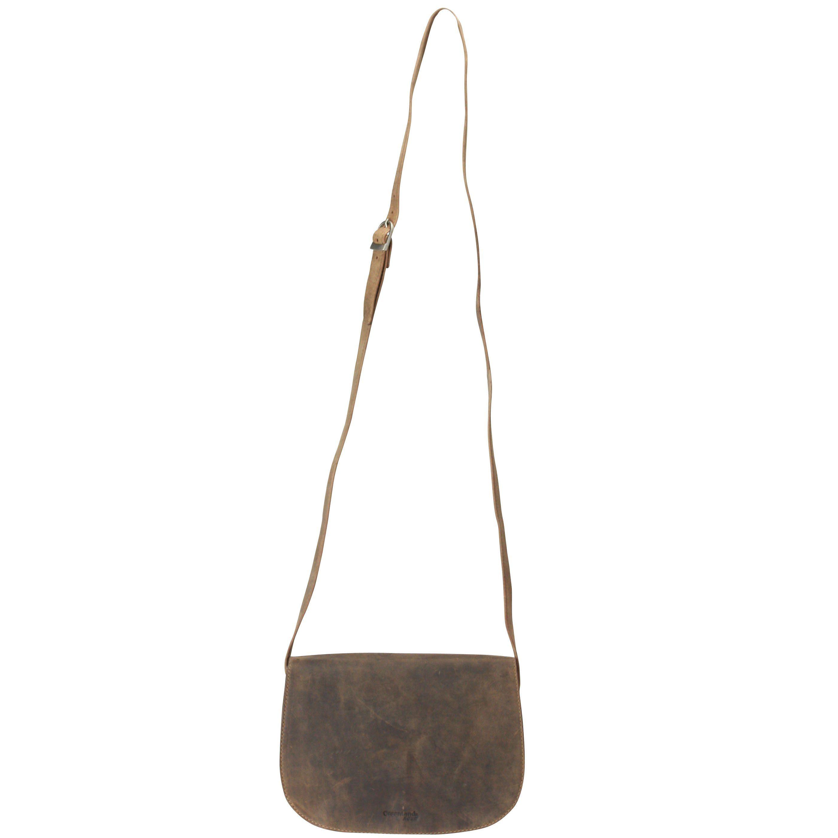 GREENLAND Stone Umhängetasche Leder 28 cm