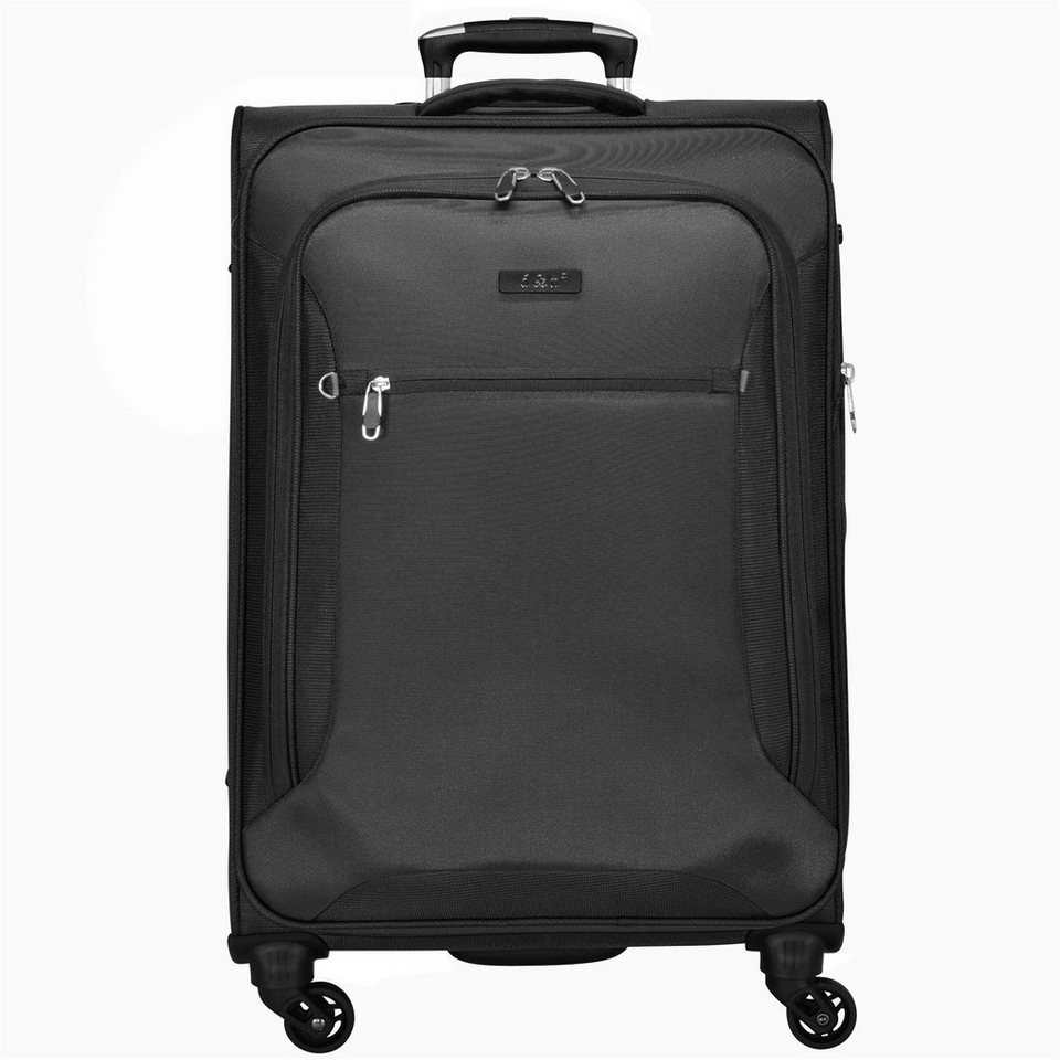 d & n Travel Line 6400 4-Rollen-Trolley 78 cm in schwarz