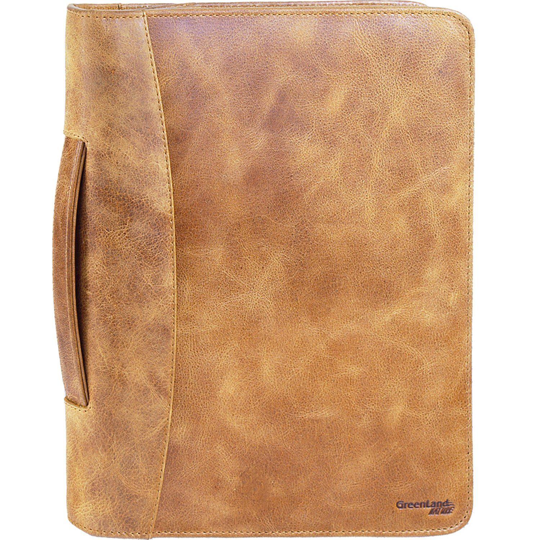 GREENLAND Light Schreibmappe Leder 26,5 cm Tabletfach