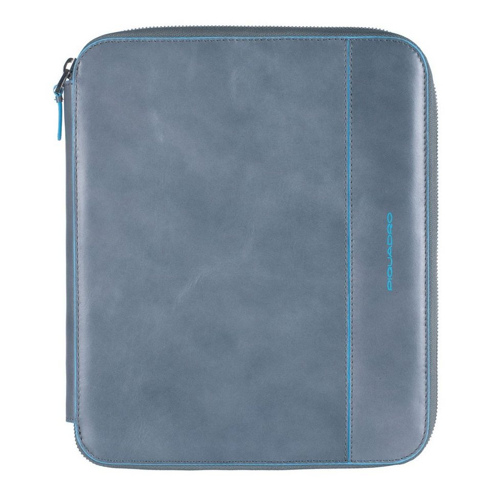 Piquadro Blue Square iPad Hülle Leder 25 cm in grey