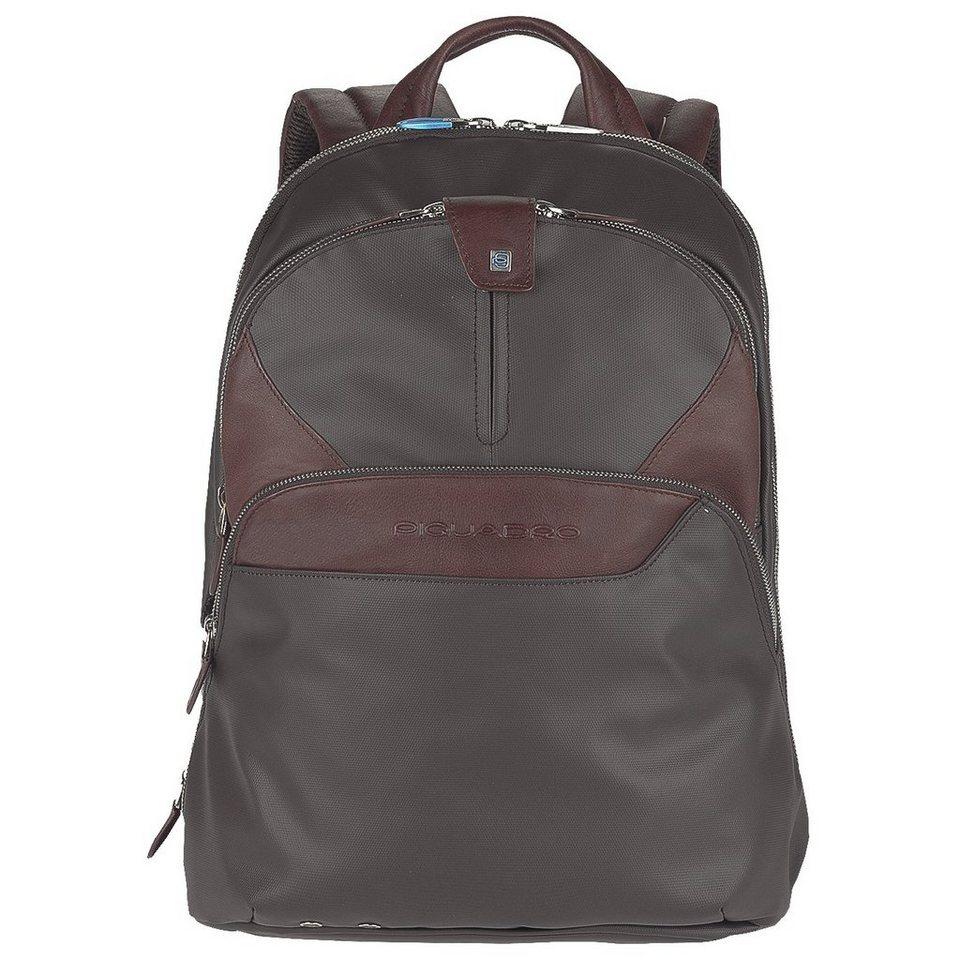 Piquadro Piquadro Coleos Rucksack Leder 36 cm Laptopfach in dark brown