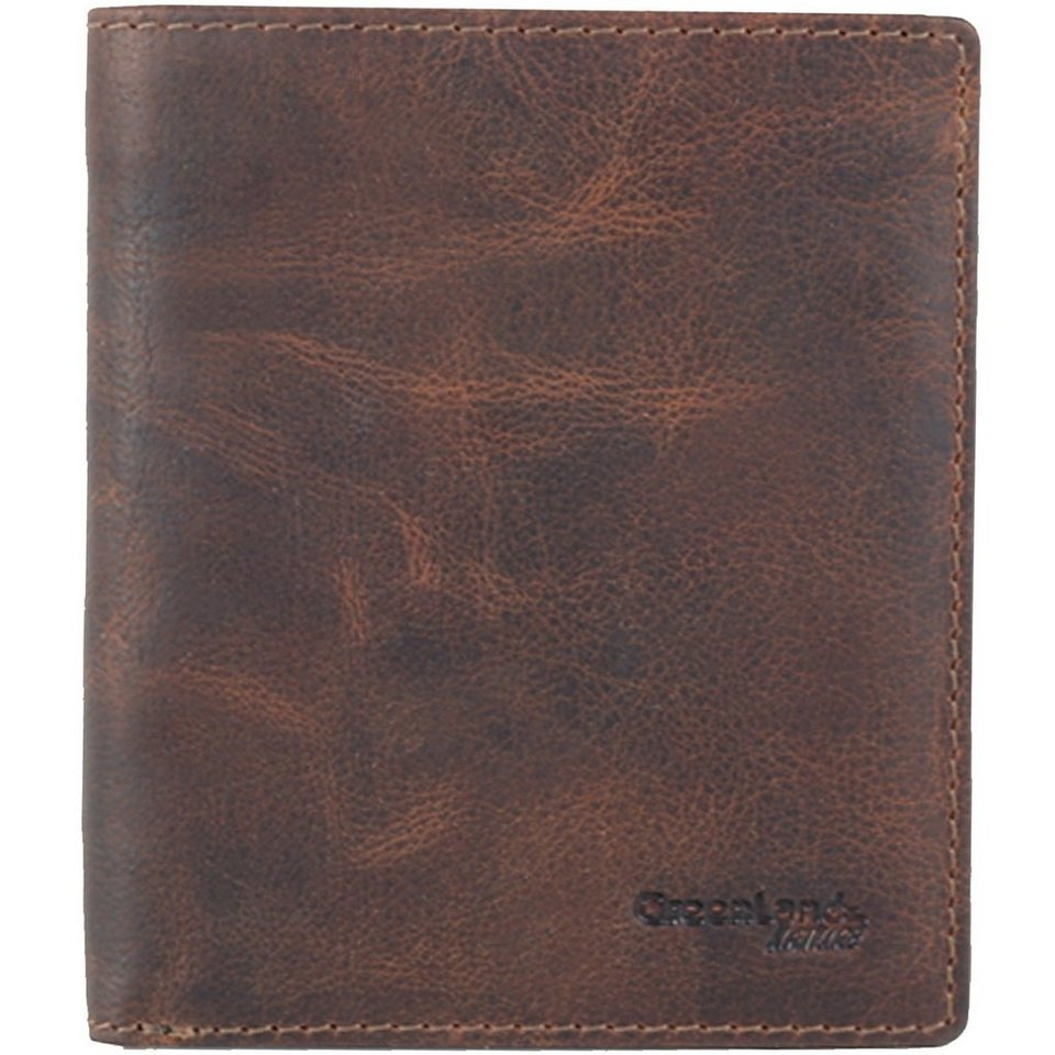 GREENLAND Montana Geldbörse Leder 10,5 cm in natur