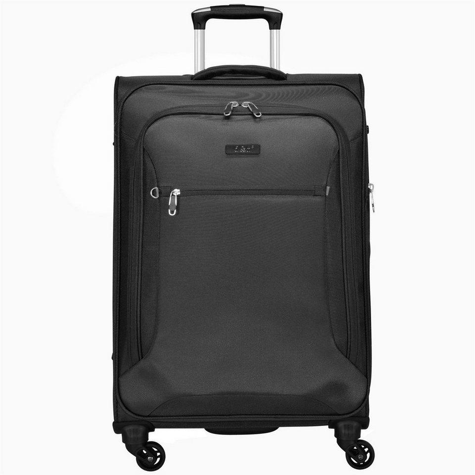 d & n Travel Line 6400 4-Rollen-Trolley 68 cm in schwarz I