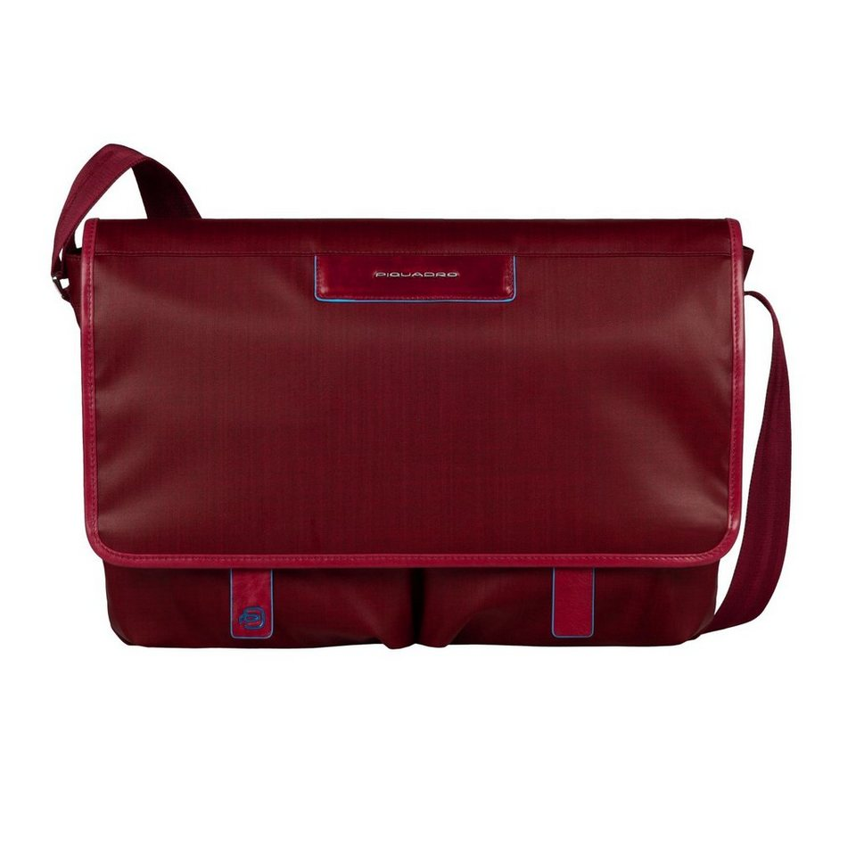 Piquadro Aki Messenger 37 cm Laptopfach in red