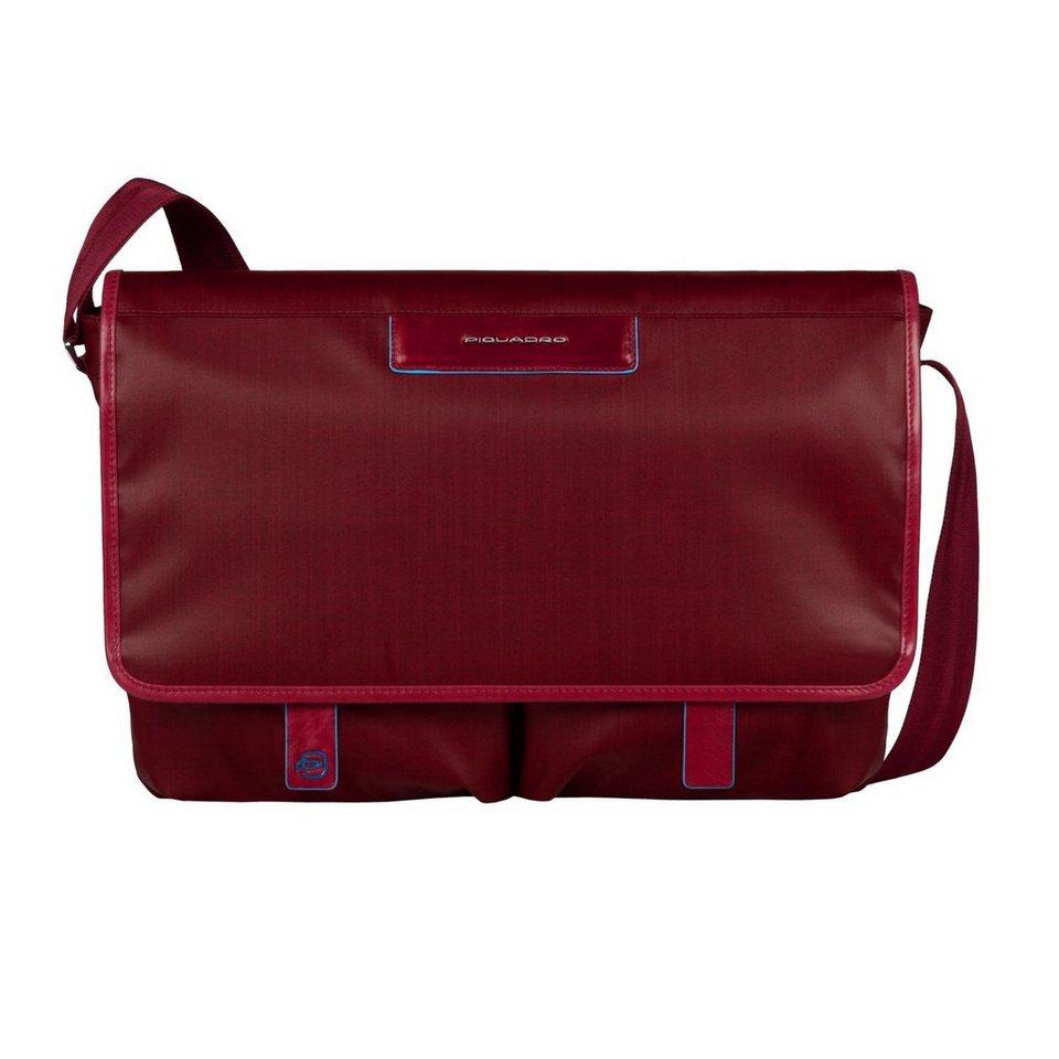 Piquadro Piquadro Aki Messenger 37 cm Laptopfach in red