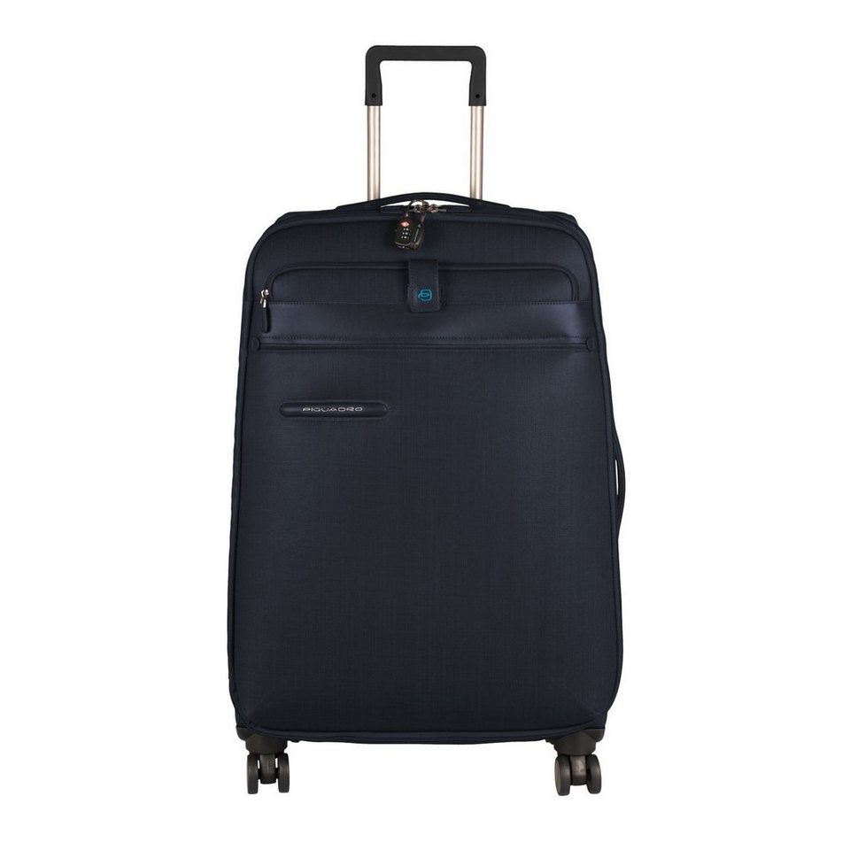 Piquadro Signo 4-Rollen Trolley 73,5 cm in electric blue