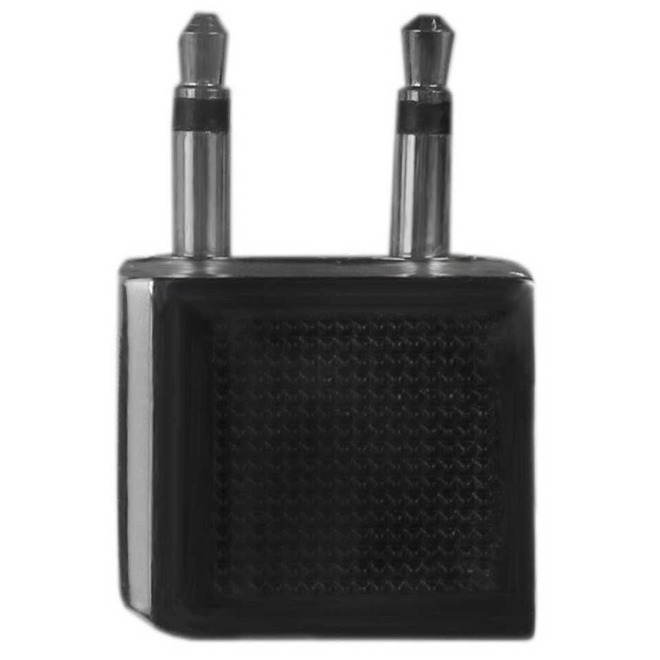 Go Travel Go Travel Elektro + Elektronikgeräte Airline Adapter Kopfhörerad in schwarz