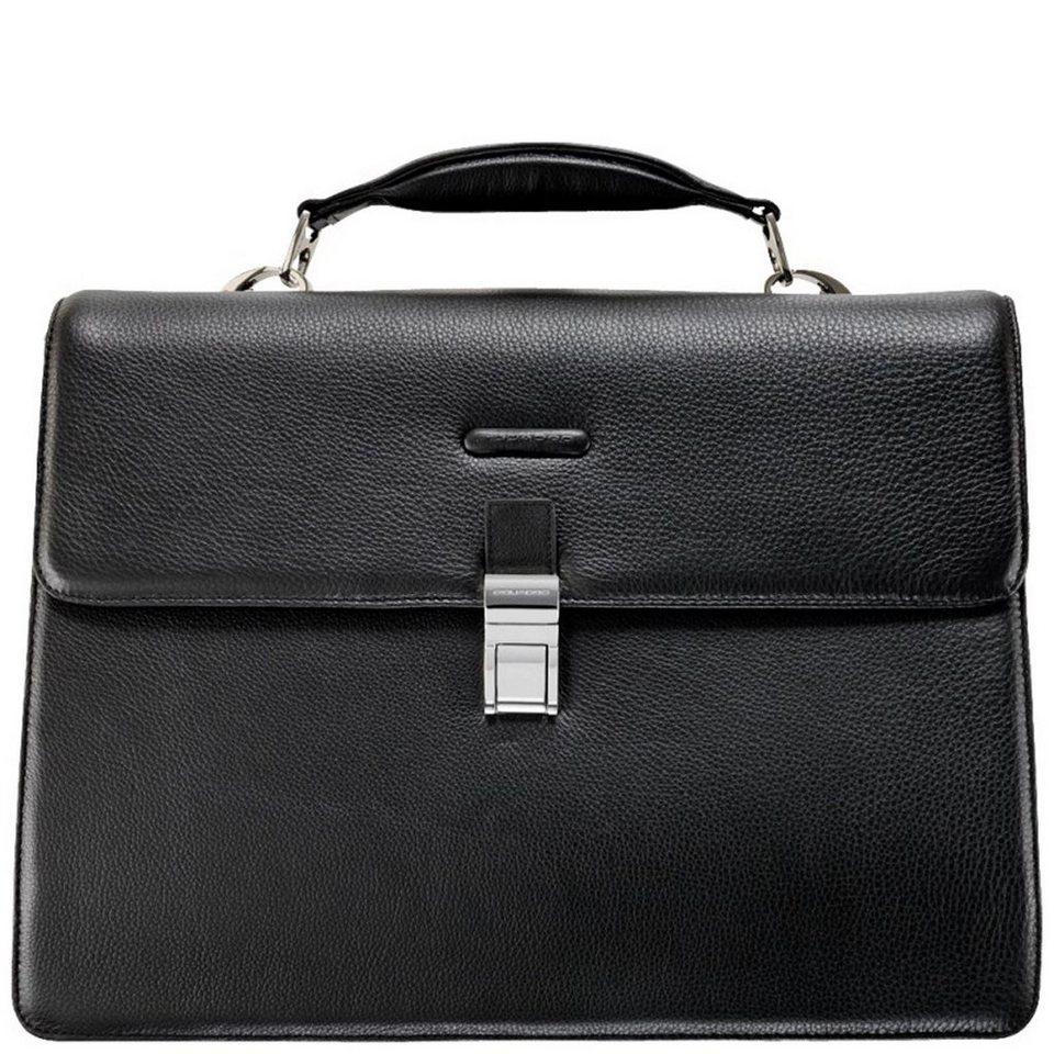 Piquadro Piquadro Modus Aktentasche Leder 42 cm Laptopfach in schwarz