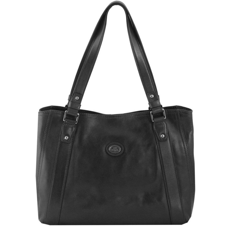 The Bridge The Bridge Manhattan Schultertasche Shopper Leder 36 cm in schwarz