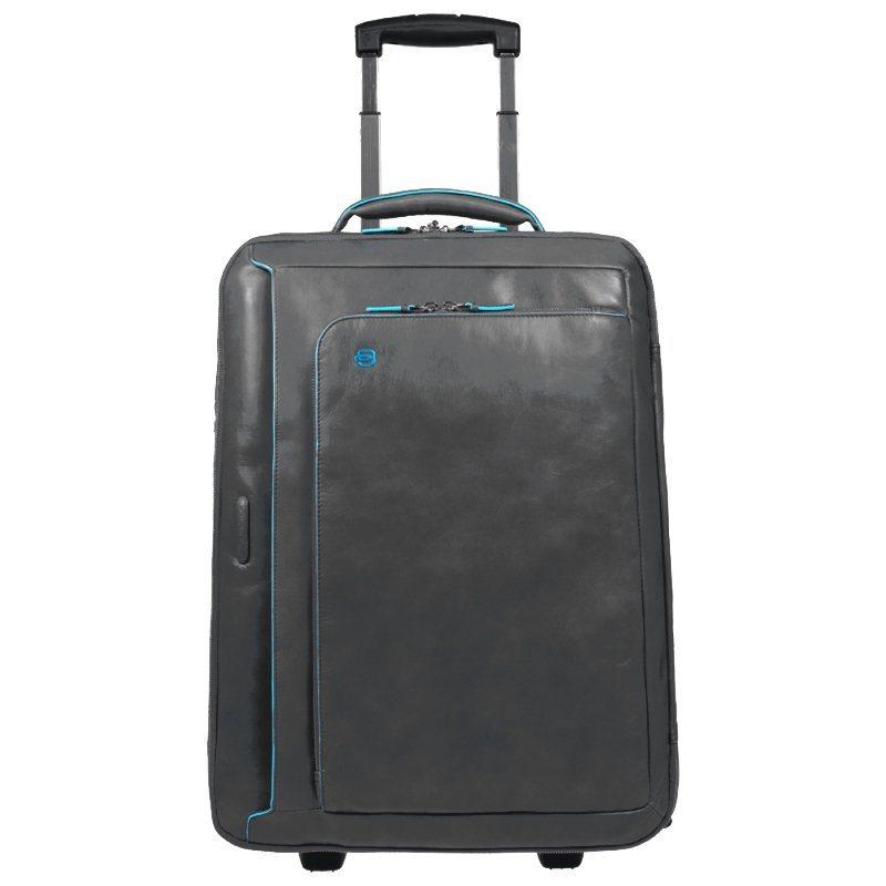 Piquadro Blue Square 2-Rollen Business Trolley Leder 51 cm Laptopfach in anthrazit