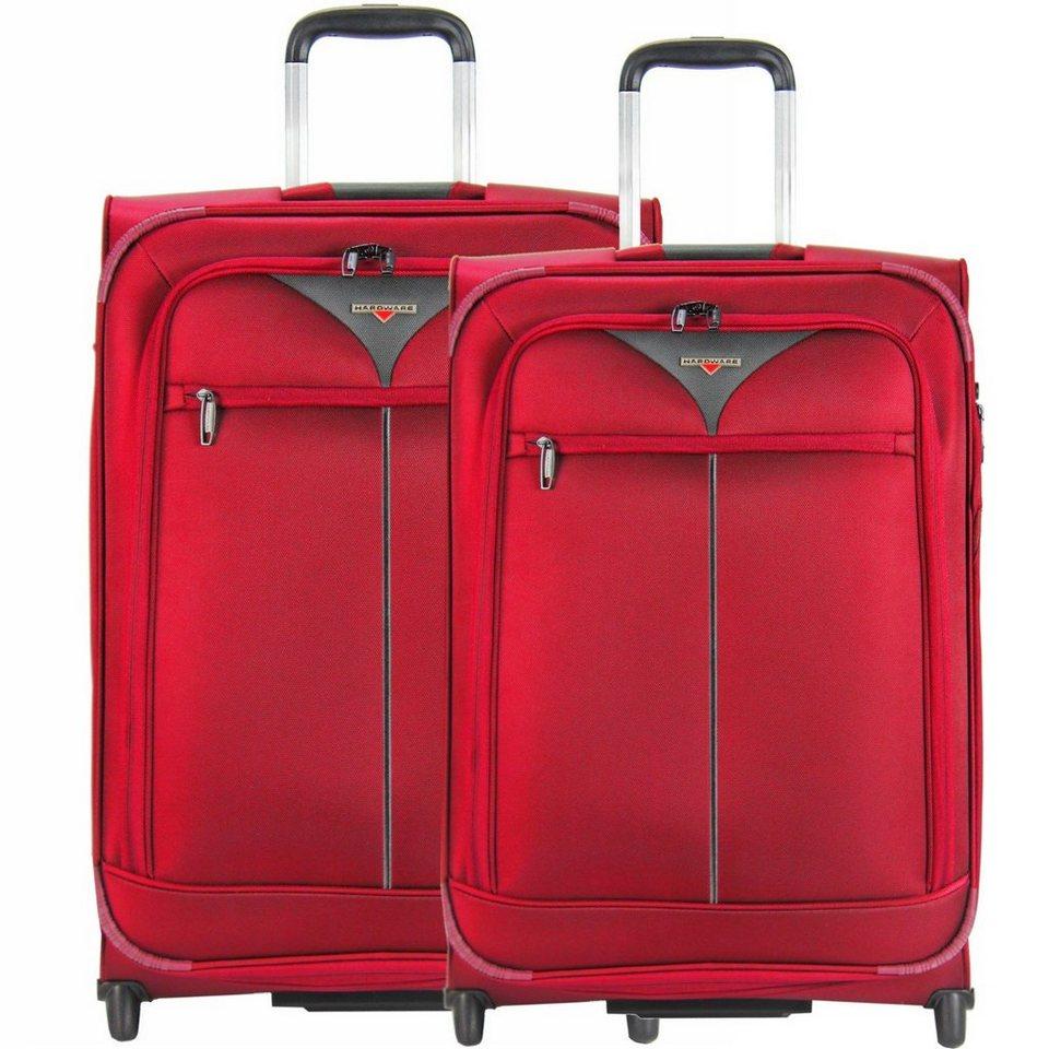 Hardware Skyline 3000 2-Rollen Trolley Set 2tlg. in red-grey