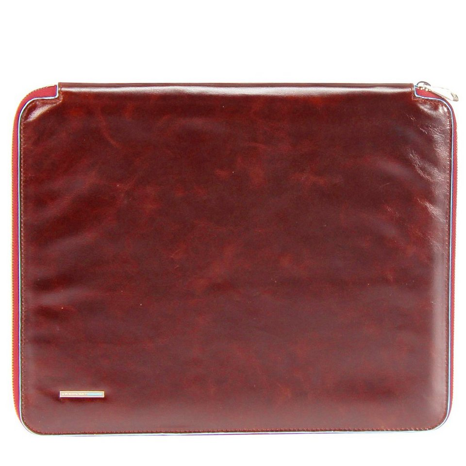 Piquadro Blue Square Schreibmappe Din A4 Leder 27 cm in rot