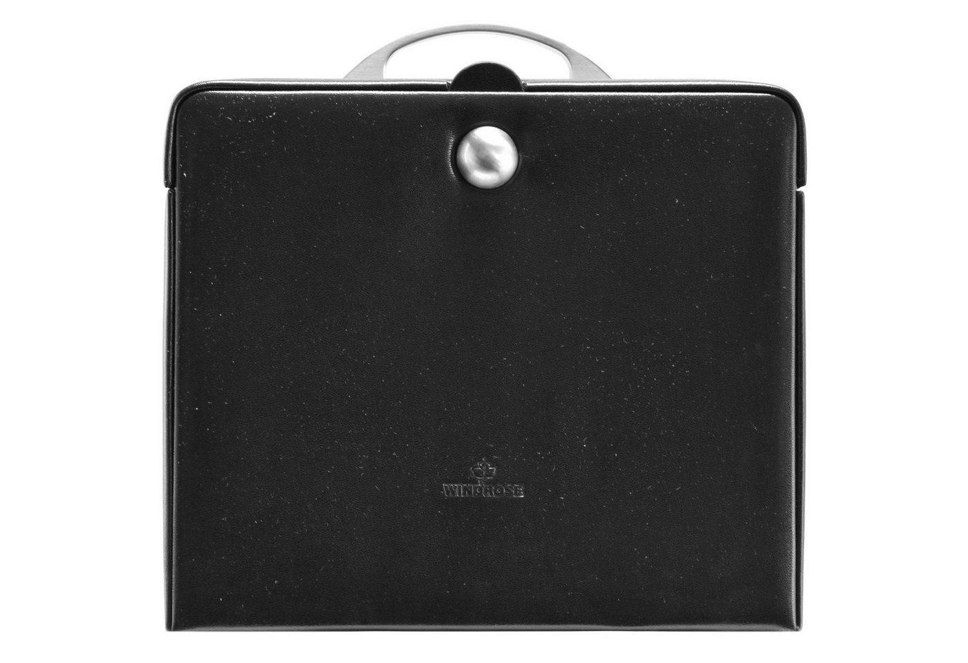 Windrose Merino Charmbox Schmuckkasten 25,5 cm | Schmuck > Schmuckaufbewahrungen > Schmuckkästen | Schwarz | Windrose