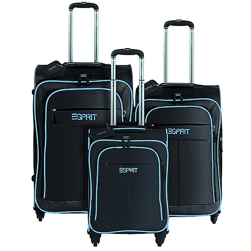 esprit superlight 4 drive 4 rollen trolley set 3 tlg online kaufen otto. Black Bedroom Furniture Sets. Home Design Ideas