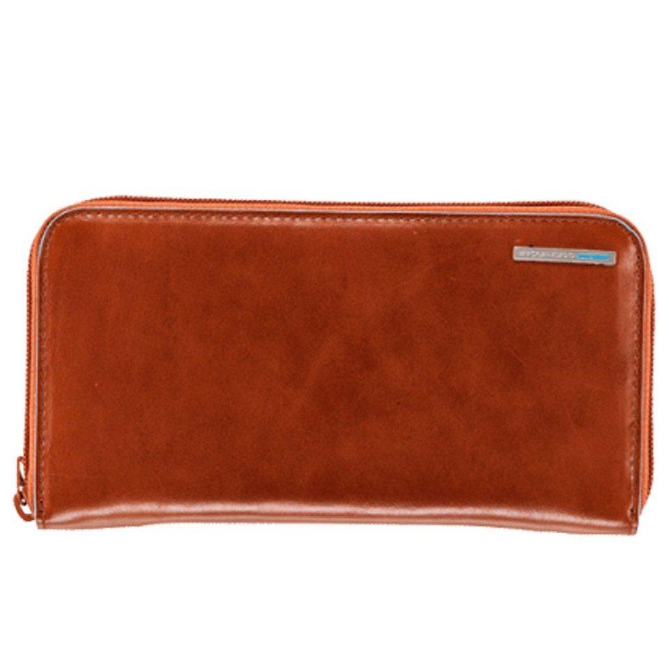 Piquadro Piquadro Blue Square Geldbörse Leder 19 cm in orange