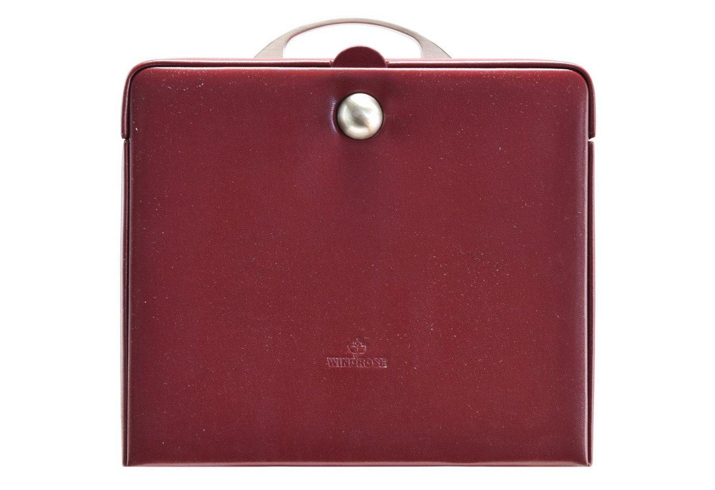 Windrose Merino Charmbox Schmuckkasten 25,5 cm | Schmuck > Schmuckaufbewahrungen > Schmuckkästen | Rot | Windrose