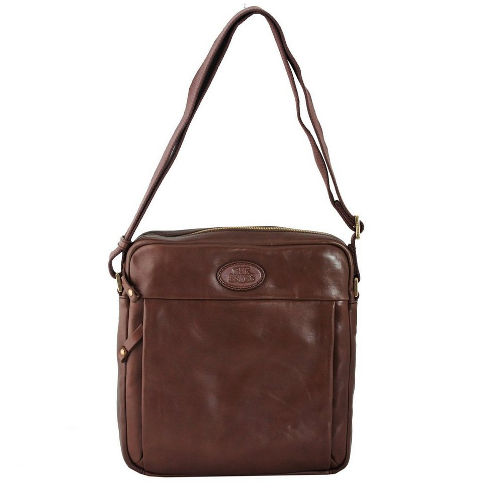 The Bridge Chatwin Uomo Man Bag Umhängetasche Leder 28 cm in marrone