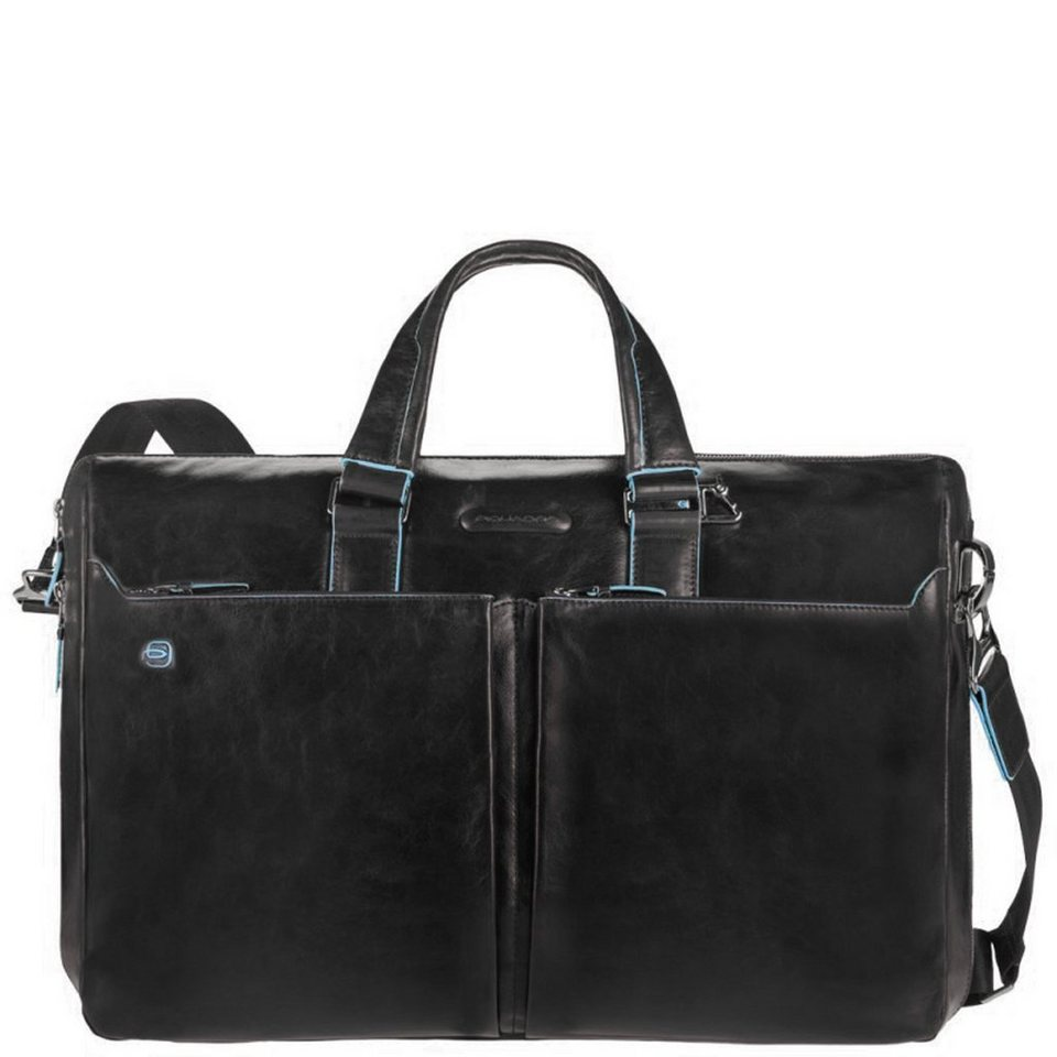 Piquadro Blue Square Aktentasche Leder 44 cm Laptopfach in black