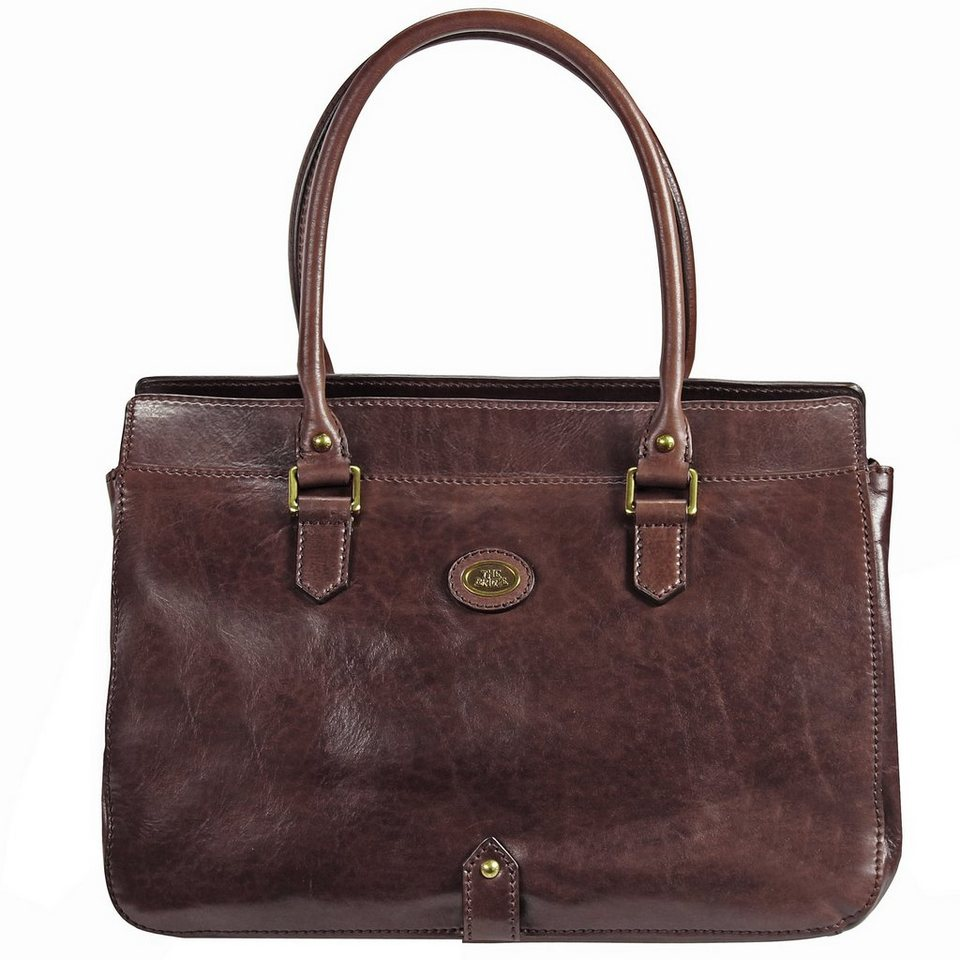 The Bridge Basic Shopper Henkeltasche Leder 37 cm in dark brown
