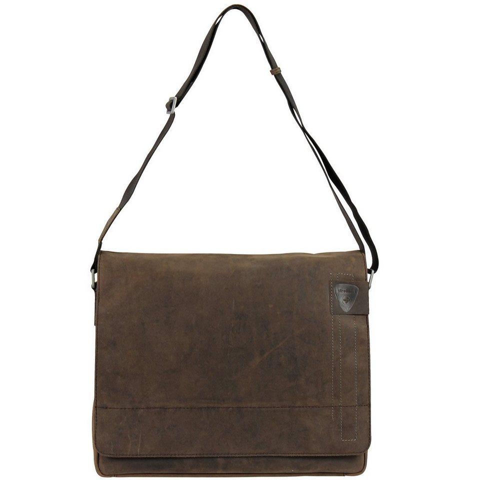 Strellson Richmond Messenger Leder 39 cm Laptopfach in dark brown