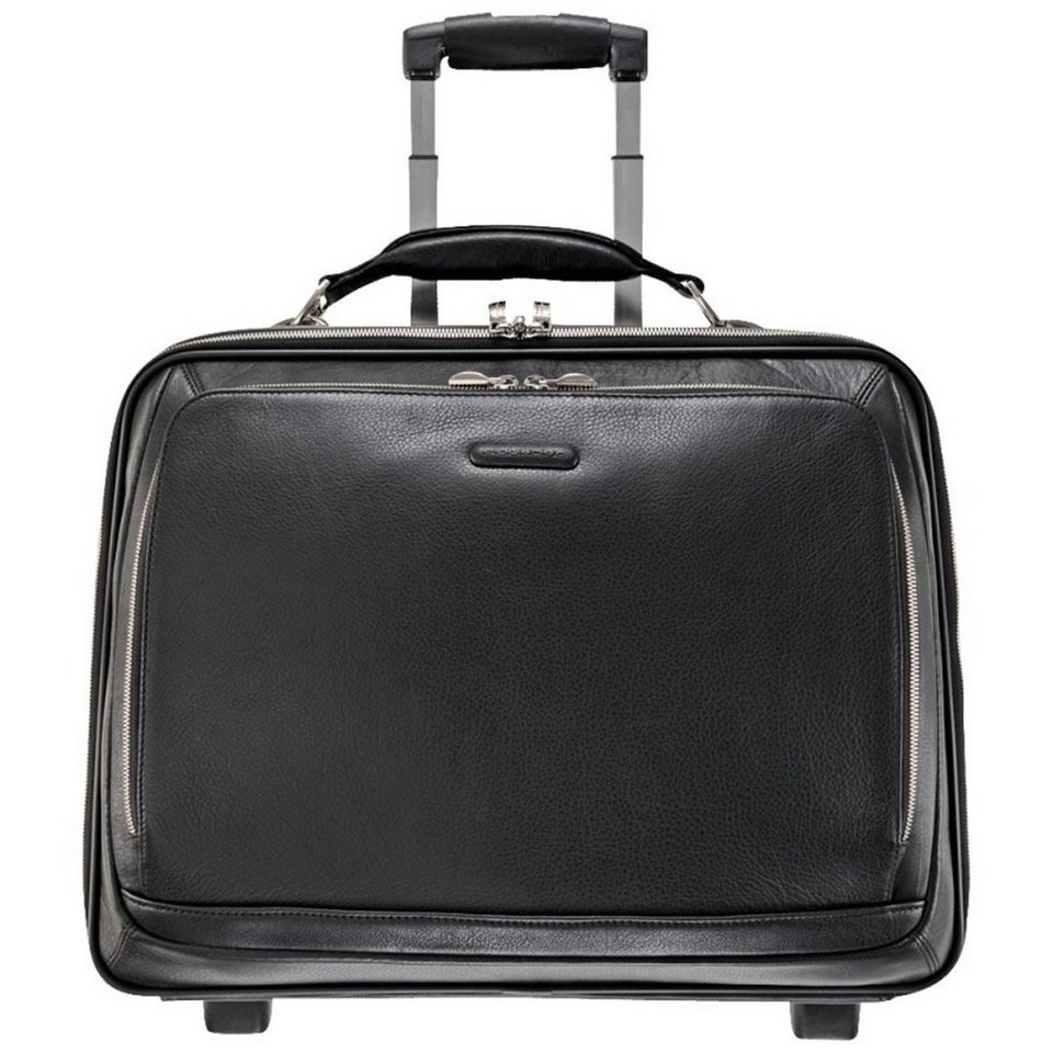 Piquadro Piquadro Modus 2-Rollen Business Trolley Leder 46 cm Laptopfach in schwarz
