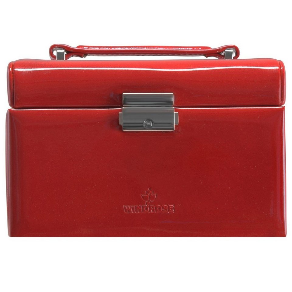 Windrose Glamour Charmbox Schmuckkoffer 17,5 cm in rot