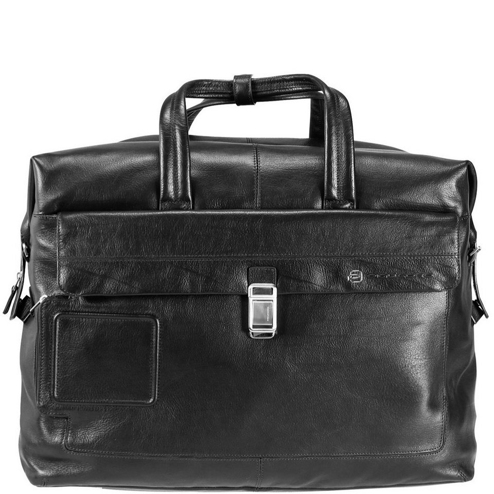 Piquadro Vibe Weekender Reisetasche Leder 48 cm in schwarz