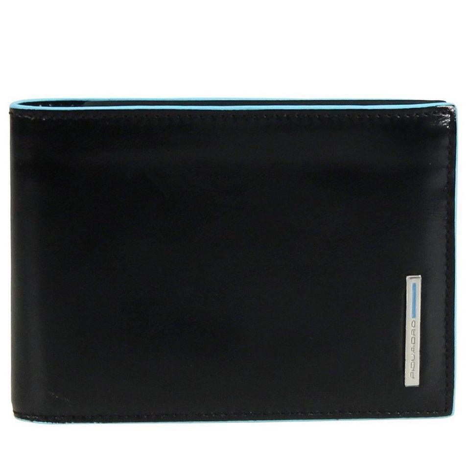 Piquadro Blue Square Geldbörse Leder 12 cm in mahagonibraun