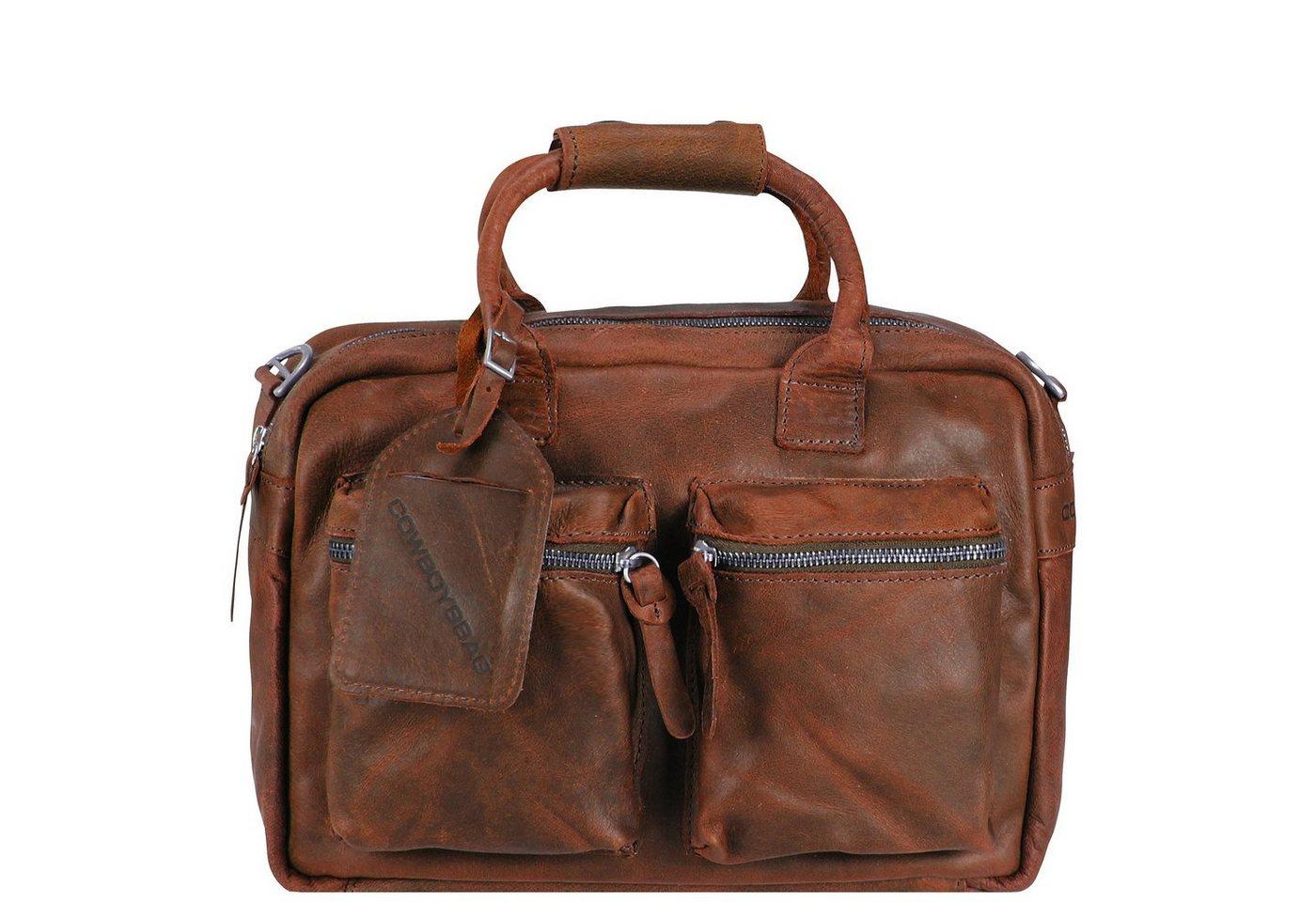 Damen Cowboysbag Little Bag Henkeltasche Leder 31 cm braun | 08718586224148