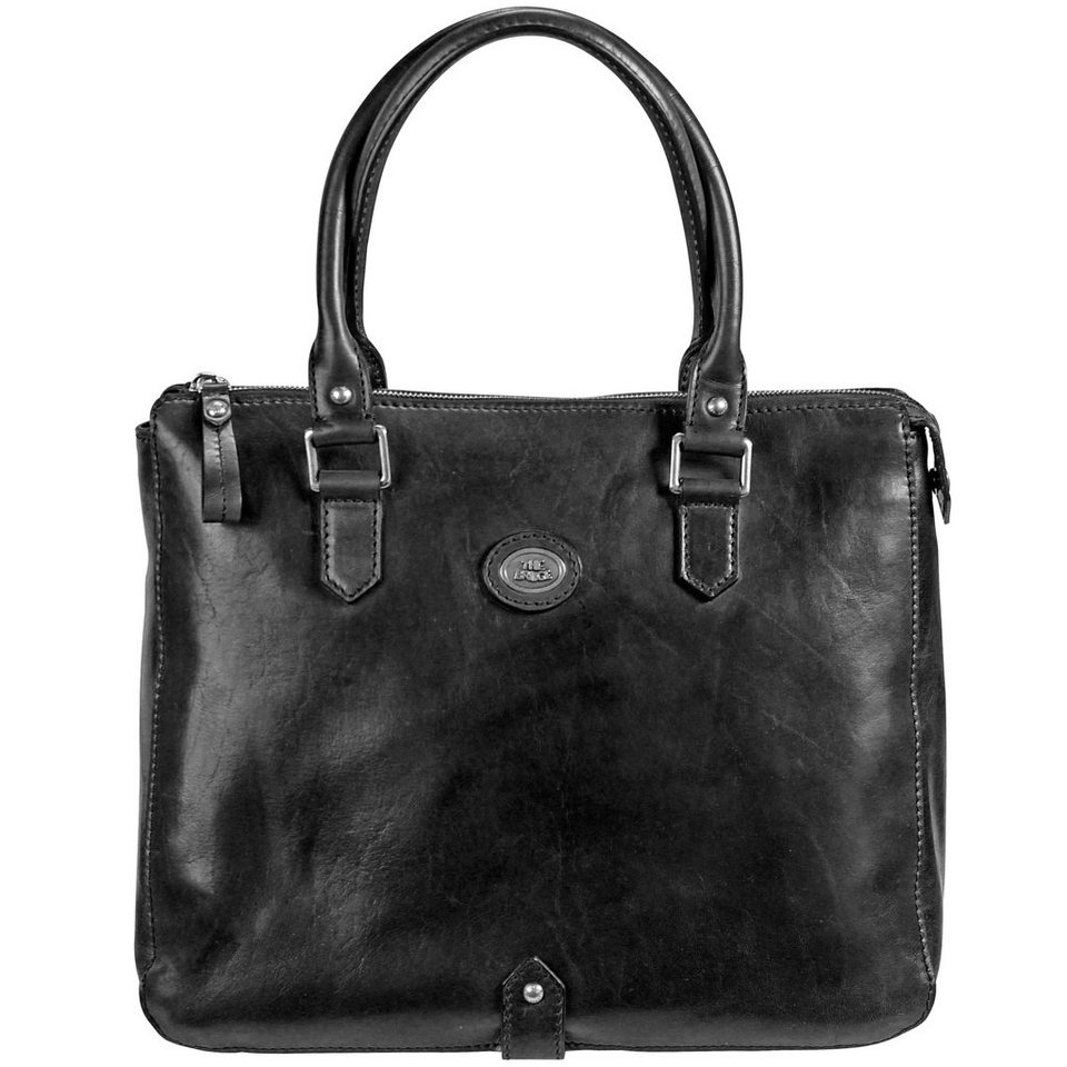 The Bridge The Bridge Basic Shopper Henkeltasche Leder 34 cm in nero