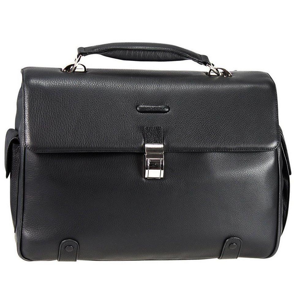 Piquadro Piquadro Modus Aktentasche Leder 44 cm Laptopfach in schwarz