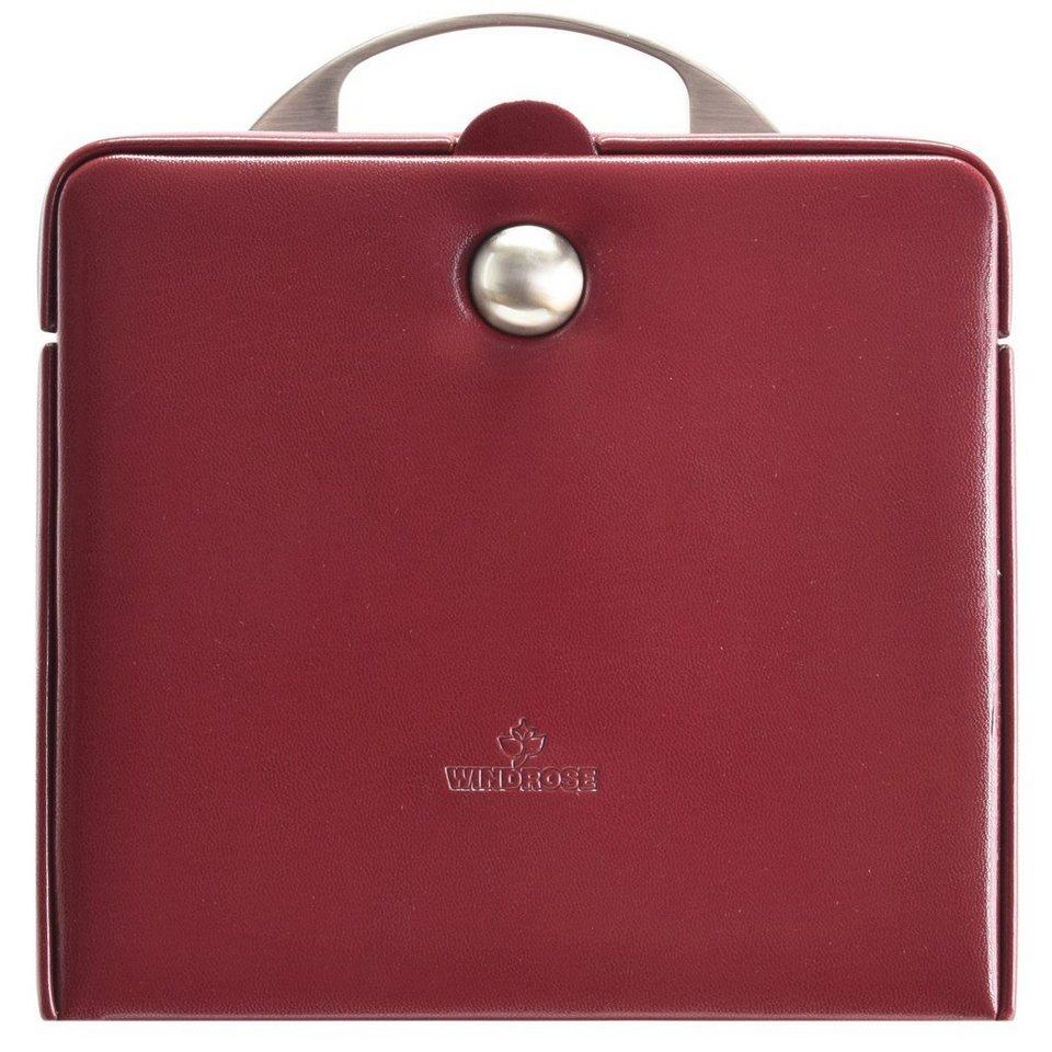 Windrose Merino Charmbox Schmuckkasten 21 cm in rot