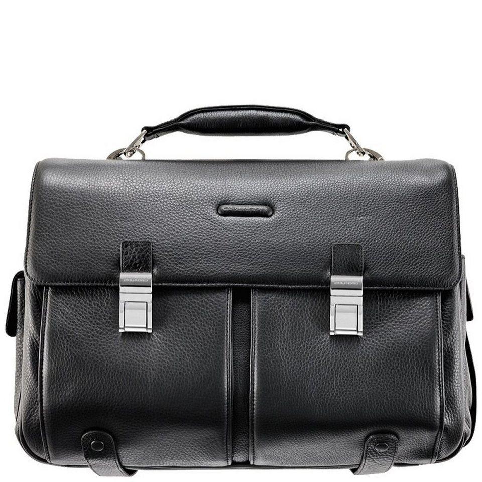 Piquadro Piquadro Modus Aktentasche Leder 43 cm Laptopfach in schwarz