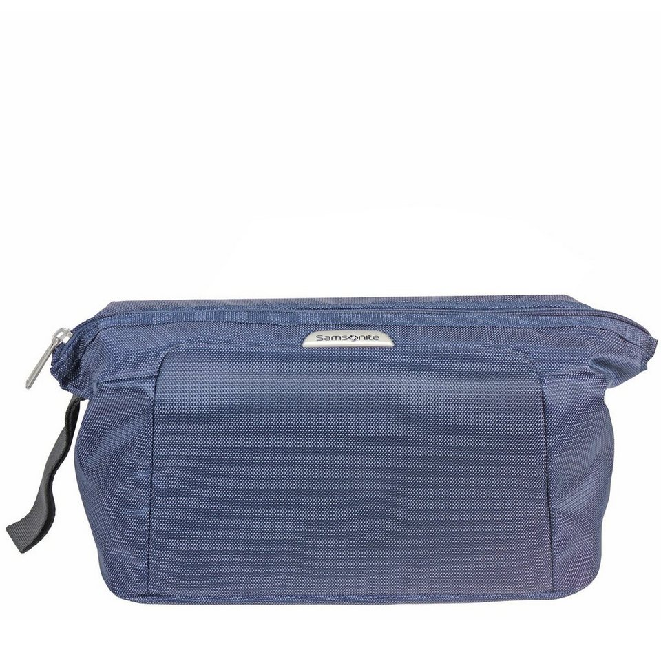 Samsonite New Spark Cosmetic Case Toilet Bag Kulturtasche 28 cm in blue