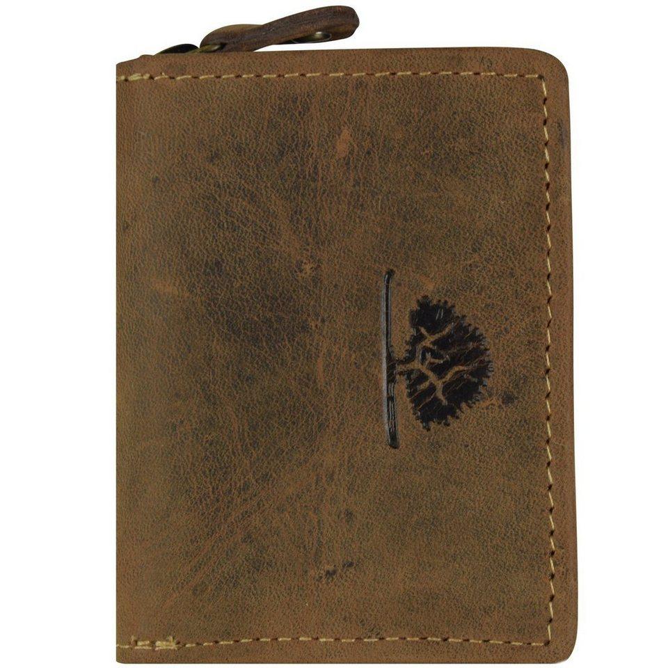 Greenburry Vintage Münzbörse Leder 7 cm in brown