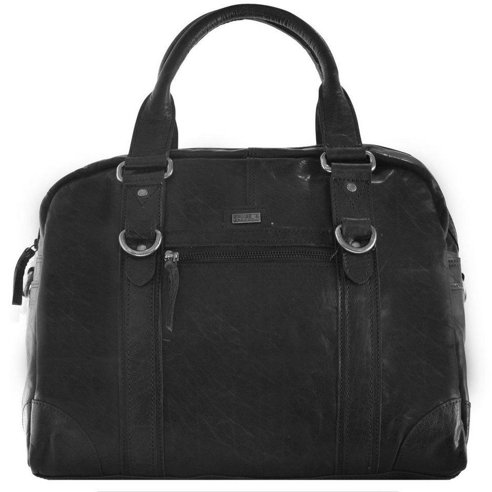 Spikes & Sparrow Spikes & Sparrow Tundra Handtasche Aktentasche Leder 40 cm in black