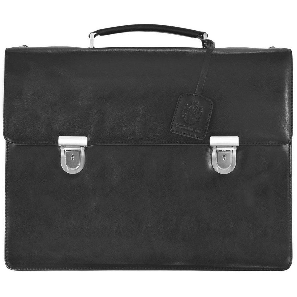 Leonhard Heyden Cambridge Aktentasche Leder 42 cm Laptopfach in black