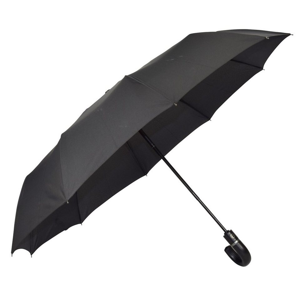 Happy Rain Happy Rain Gents Easymatic Taschenschirm 35 cm in black