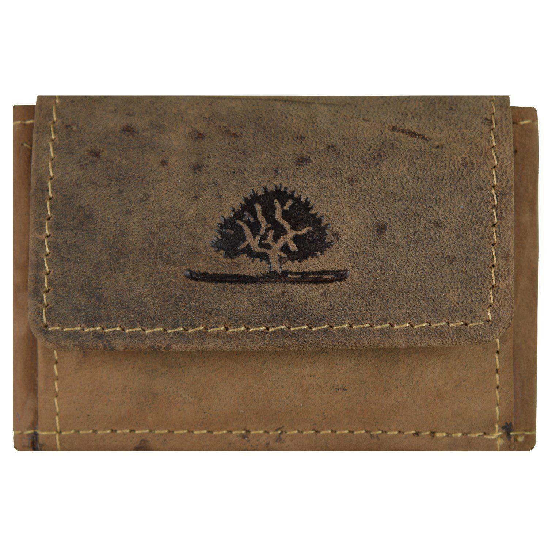 Greenburry Vintage Münzbörse Leder 8,5 cm