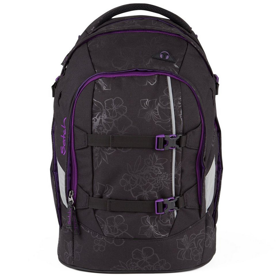 Satch Satch pack Schulrucksack II 48 cm Laptopfach in Purple Hibiscus