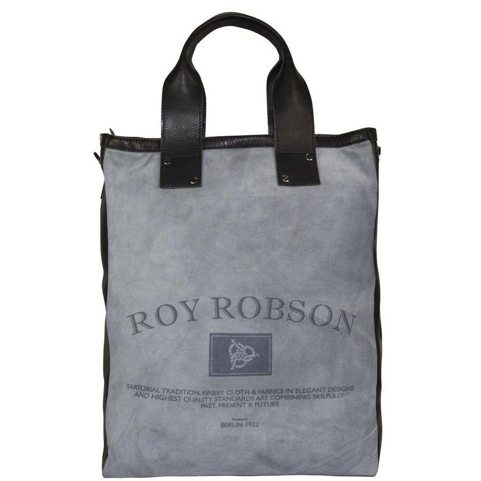Roy Robson Storyboard Businesstasche Umhängetasche Leder 33 cm in grau