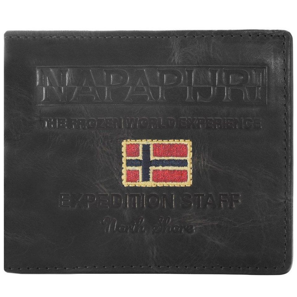 Napapijri Napapijri Cork Billfold 8 Geldbörse Leder 12 cm in black