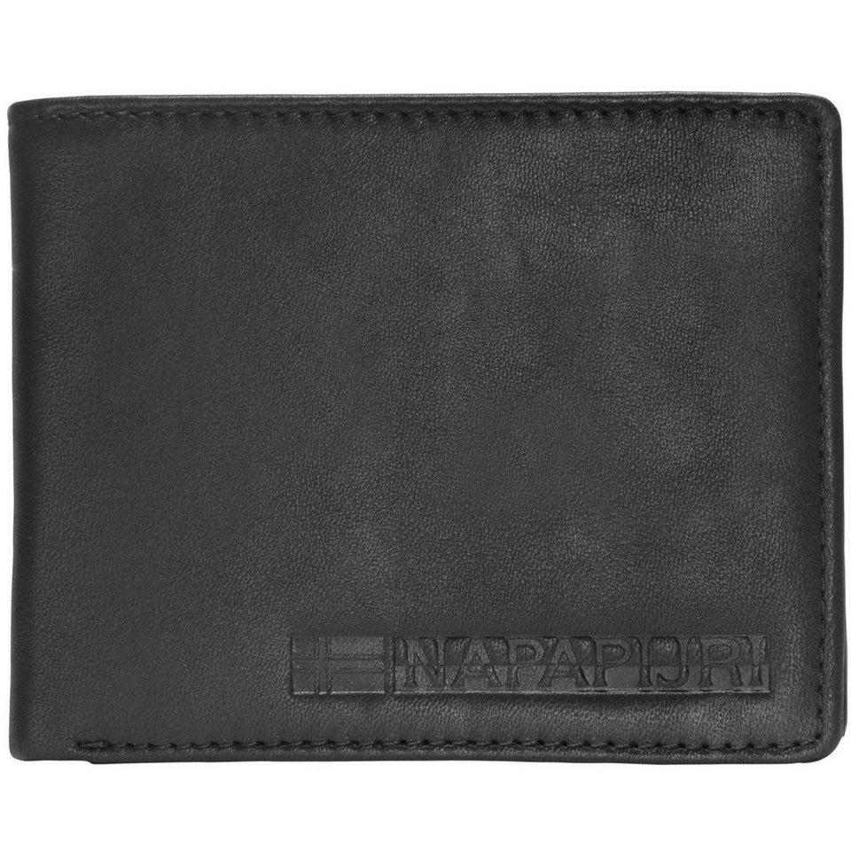 Napapijri Napapijri Formal Billfold 5 Geldbörse Leder 12,5 cm in black