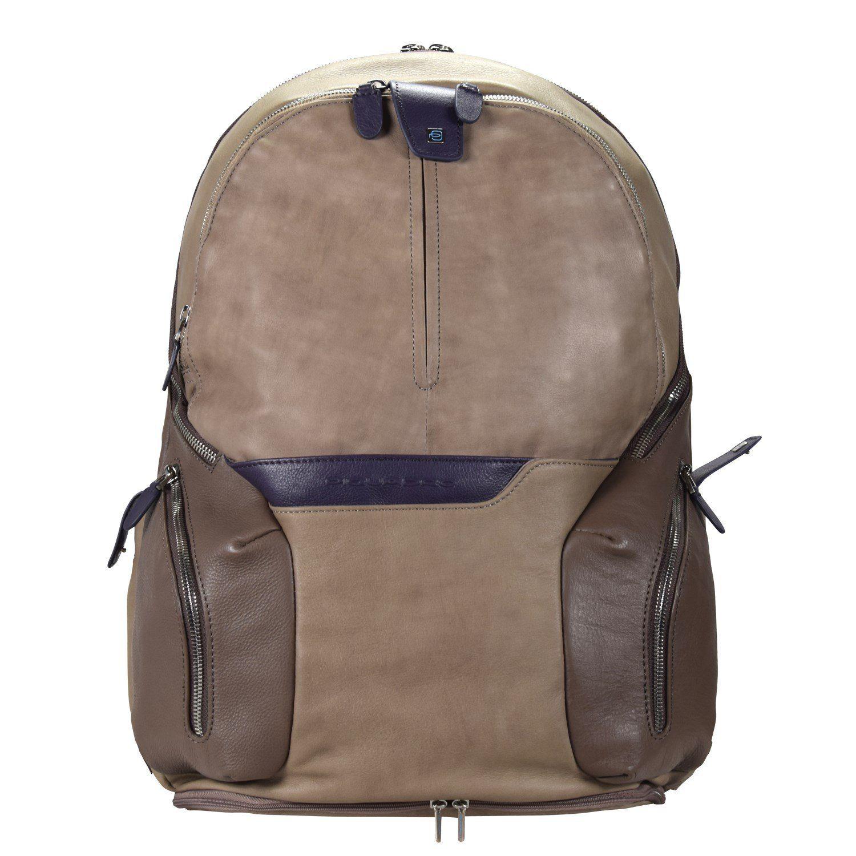 Piquadro Coleos S02 Rucksack Leder 42,5 cm Laptopfach