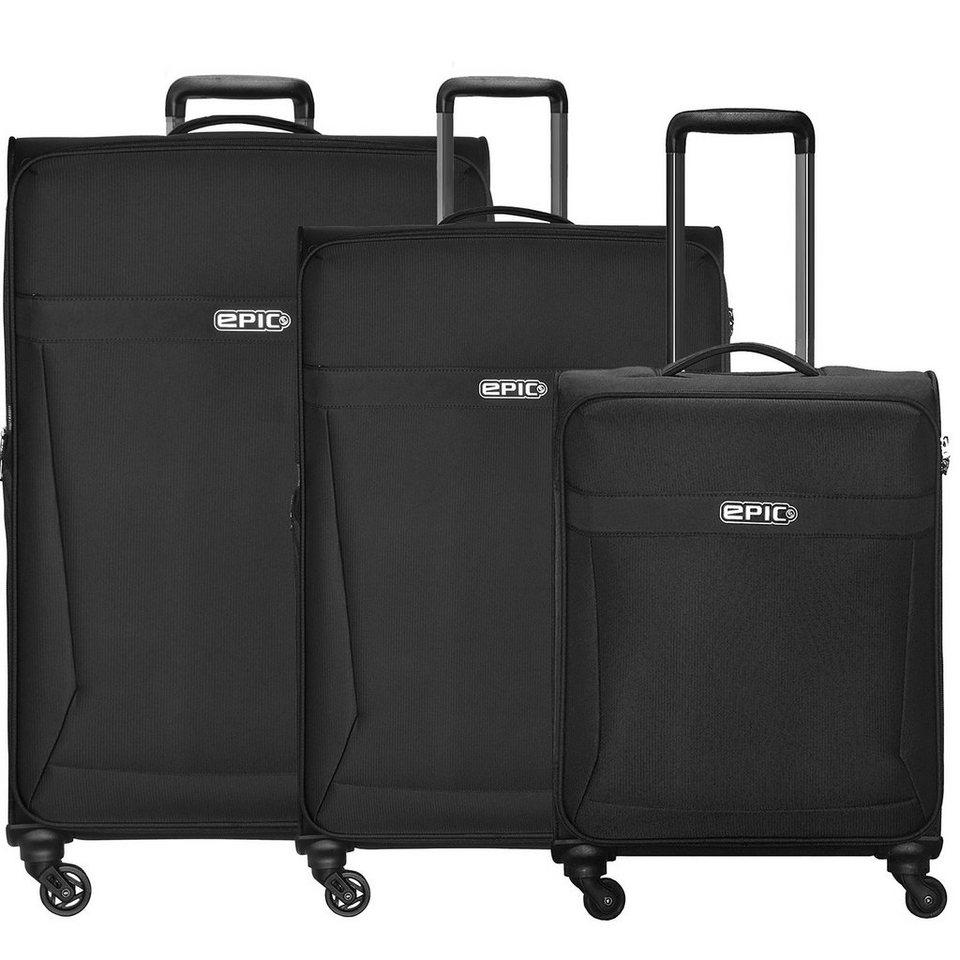 EPIC Quantum 4-Rollen-Trolley Kofferset 3-tlg. in schwarz